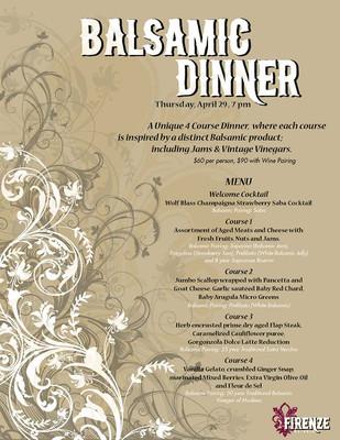 Firenze Osteria - Balsamic Dinner Promotion