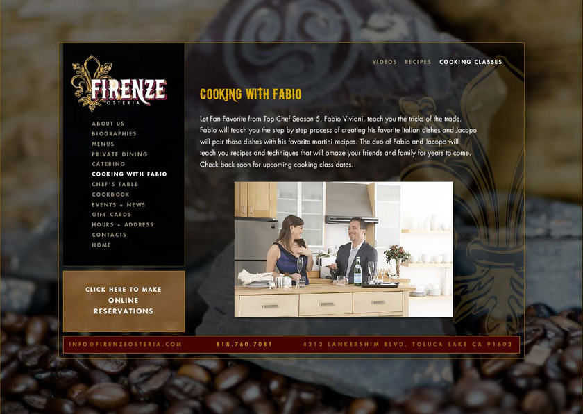 Firenze Osteria - Website About Page