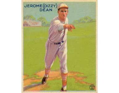 """Jerome """"Dizzy"""" Dean     - 1933 Goudey"""