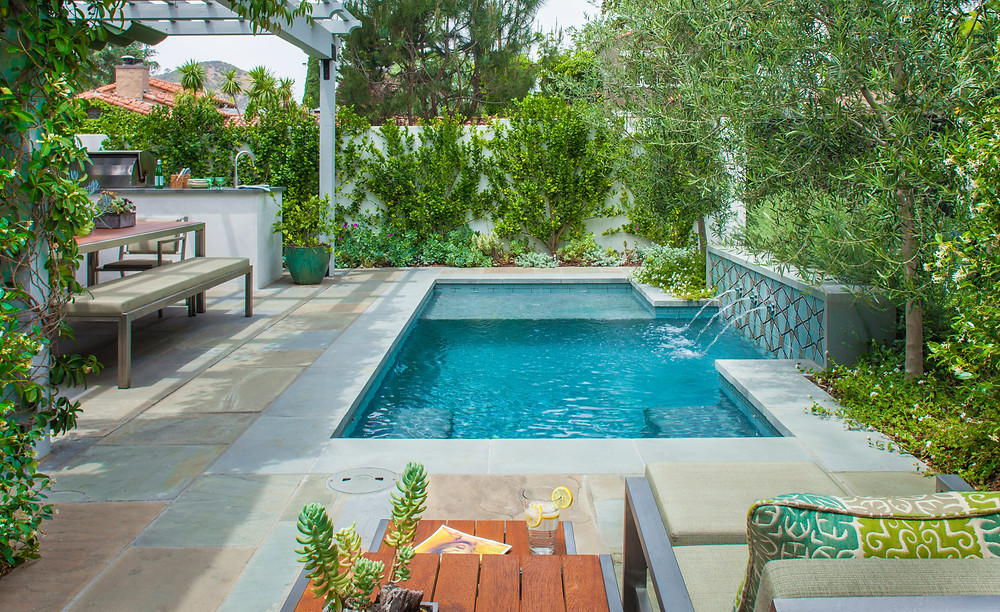 A Spanish Bungalow's Sophisticated Garden Pool