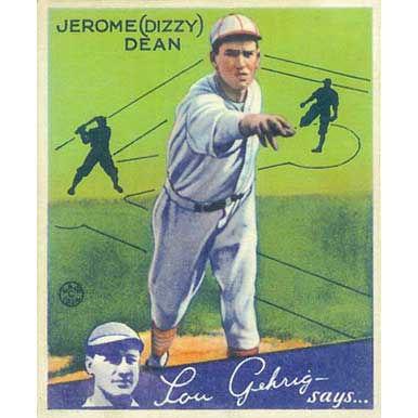 """Jerome """"Dizzy"""" Dean    - 1934 Goudey"""