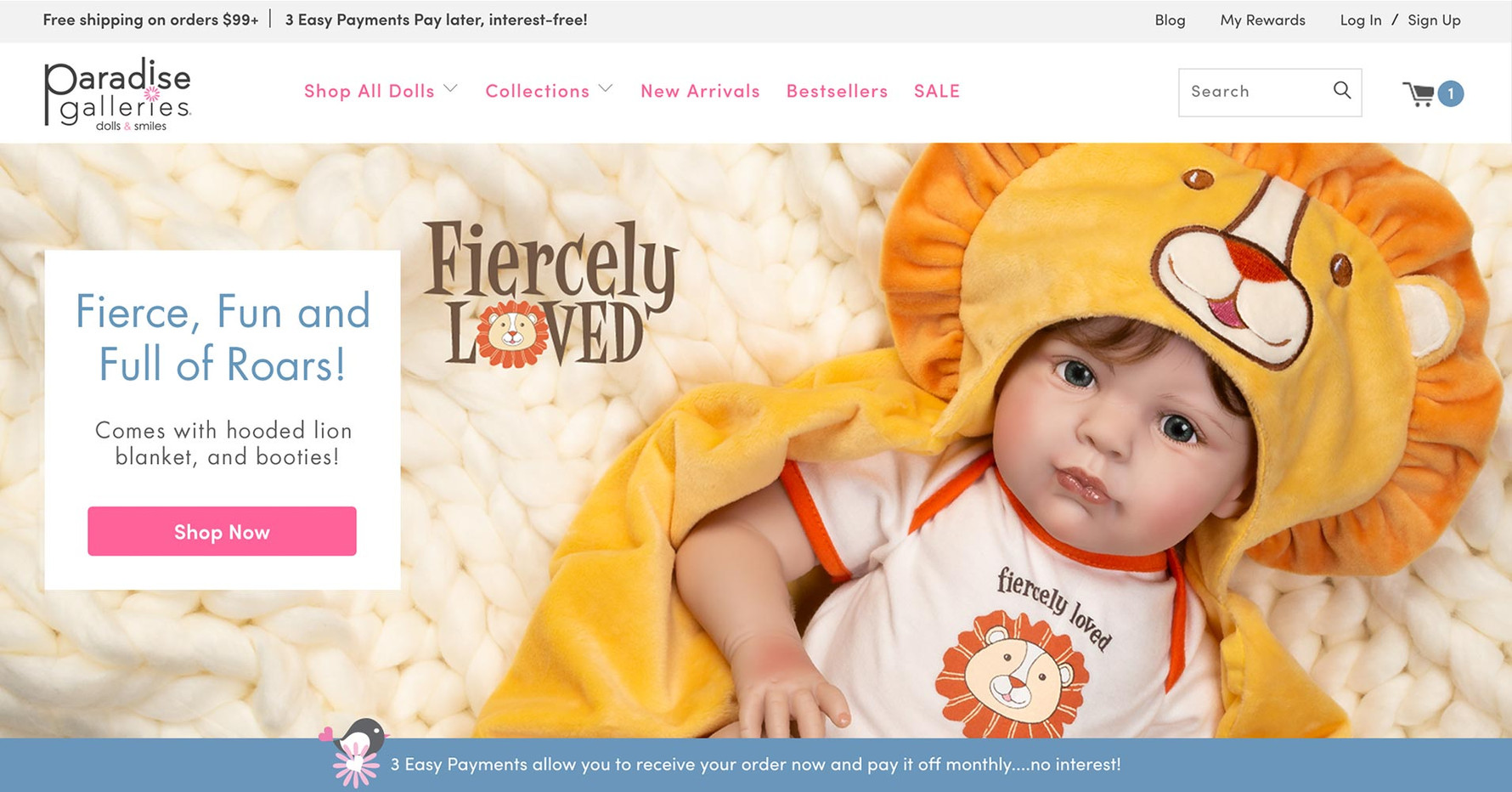 Paradise Gallery - Website Slider