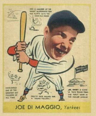 Joe DiMaggio    - 1938 Goudey