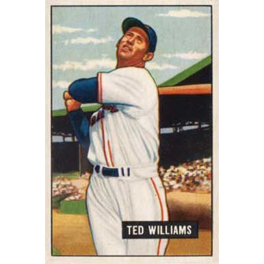 Ted Williams   - 1952 Bowman