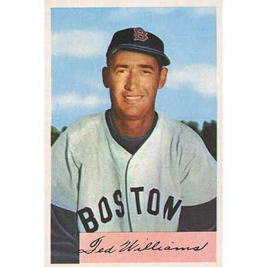 Ted Williams   - 1954 Bowman