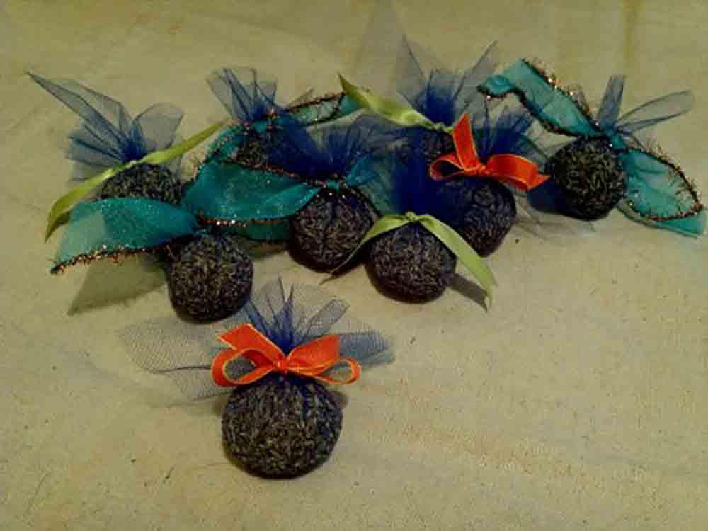 A collection of lavender bomblettes.