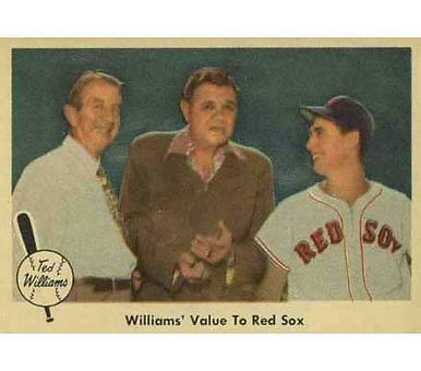 William's Value to Red Sox   - 1959 Fleer