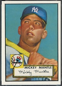 1952 Topps Mickey Mantle MINT 9