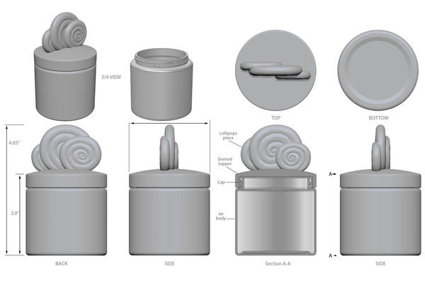 Candy Club – CAD Product Rendering