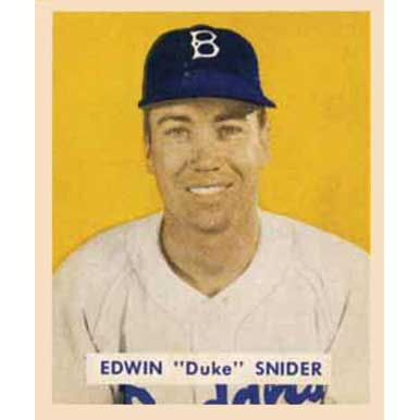 "Edwin ""Duke"" Snider    - 1949 Bowman"