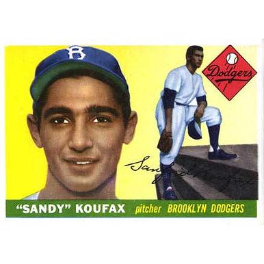 Sandy Koufax    - 1955 Topps