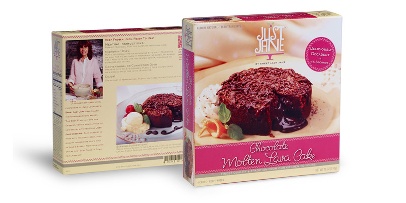 Just Jane Molten Lave Cake Packaging