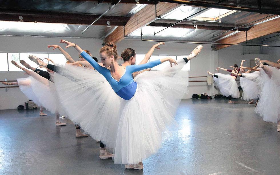 Los Angeles Ballet Dancers Rehearsal La Sylphide