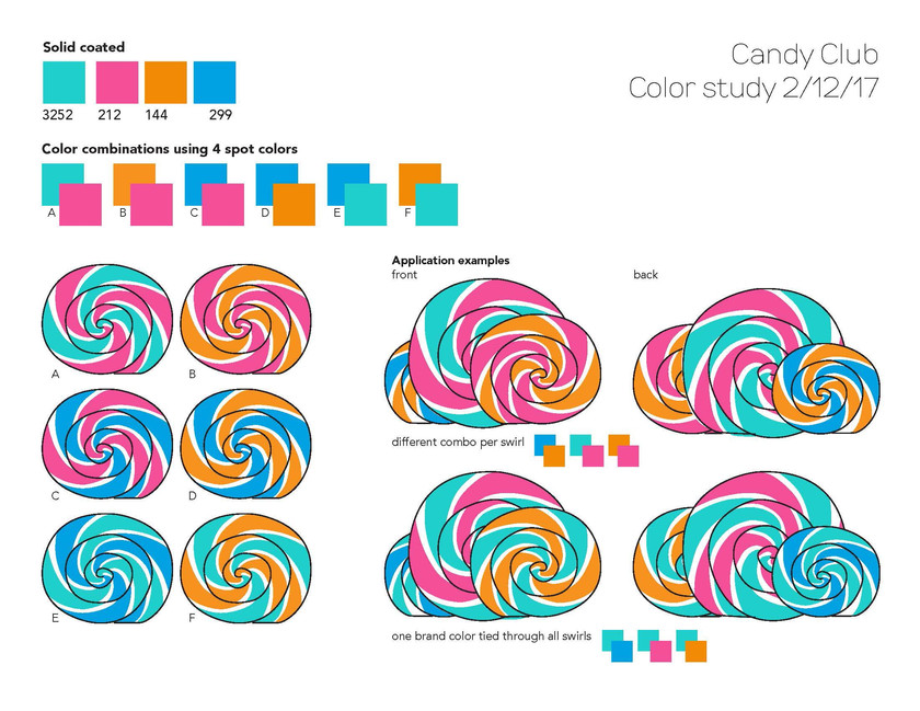 Candy Club - Color Swirl Study
