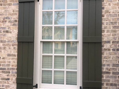 Add Curb Appeal with Wooden Shutters!