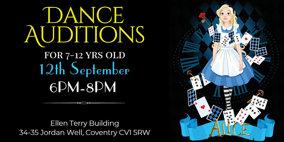 """AUDITIONS """"ALICE"""" ( 7-12 YRS OLD) - DANCE PRODUCTION 2019"""