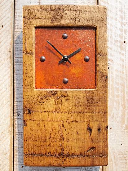 Rustic Baby Block Clock