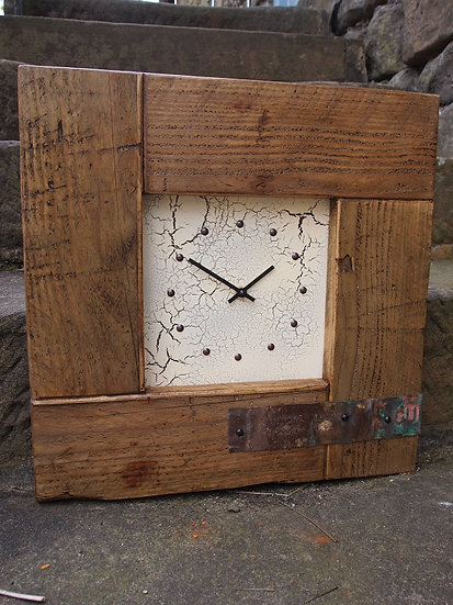 Trade Mini Puzzle Clock - Vintage Crackle