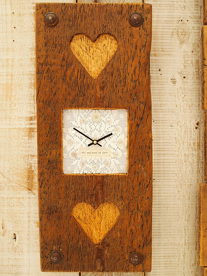 Wedding Double Heart Clock