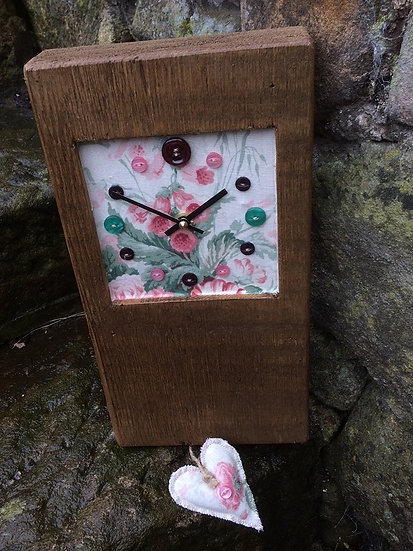 Trade Original Button Clock - Floral