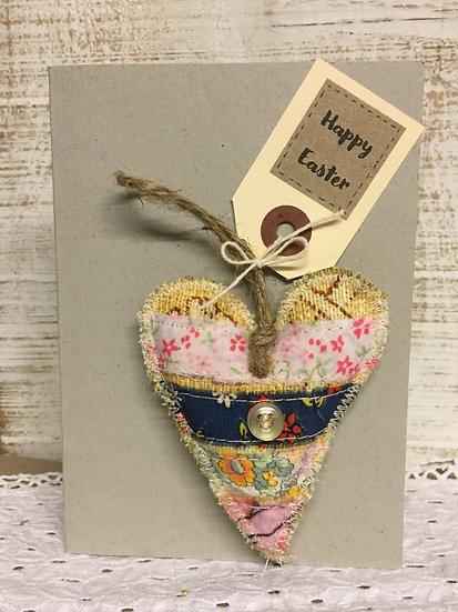 Lavender filled Heart  Card