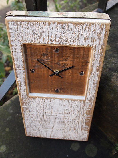 White Beach Baby Block Clock