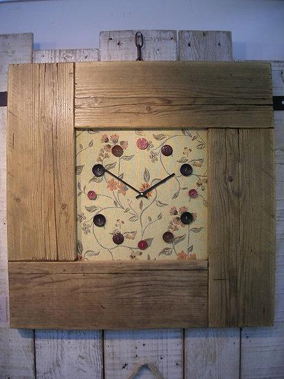 Floral Puzzle Clock