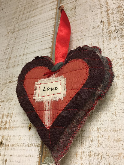 'Love' Lavender Heart