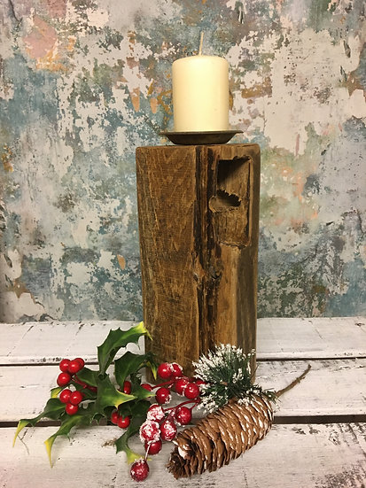 Reclaimed Oak Candle Holder