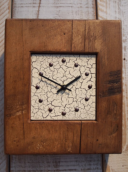 Vintage Crackle Mantle Clock