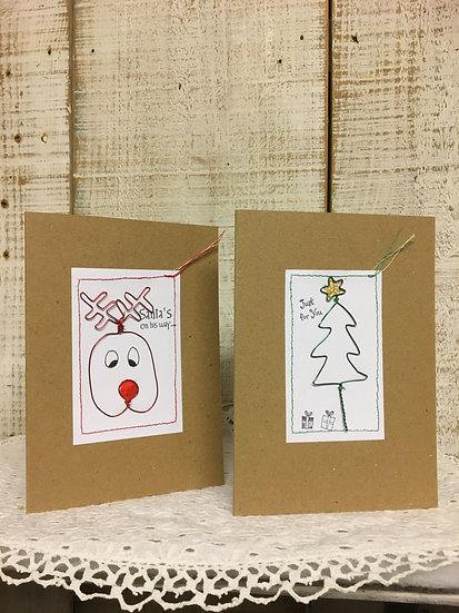Wire Christmas Cards