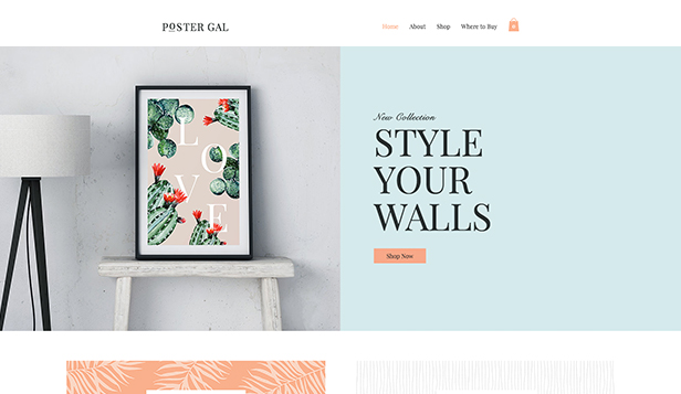 Artes website templates – Loja de poster
