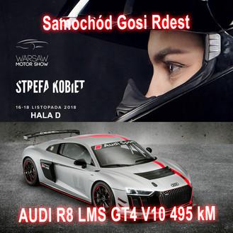 Spotkacie się w Strefie Kobiet z Gosią Rdest i zobaczycie jej niesamowity samochód wyścigowy AUDI R8