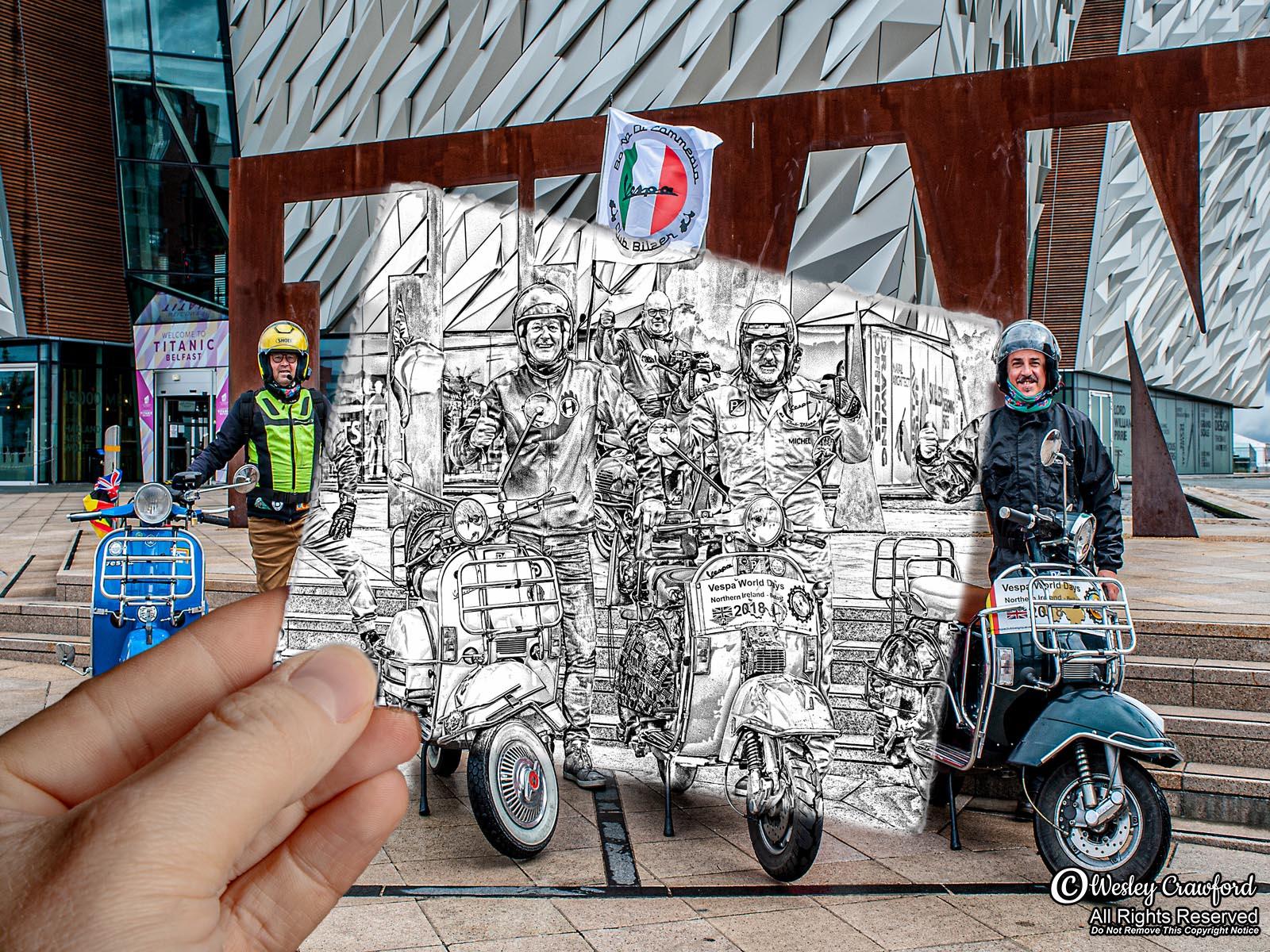 Italian Vespa Riders