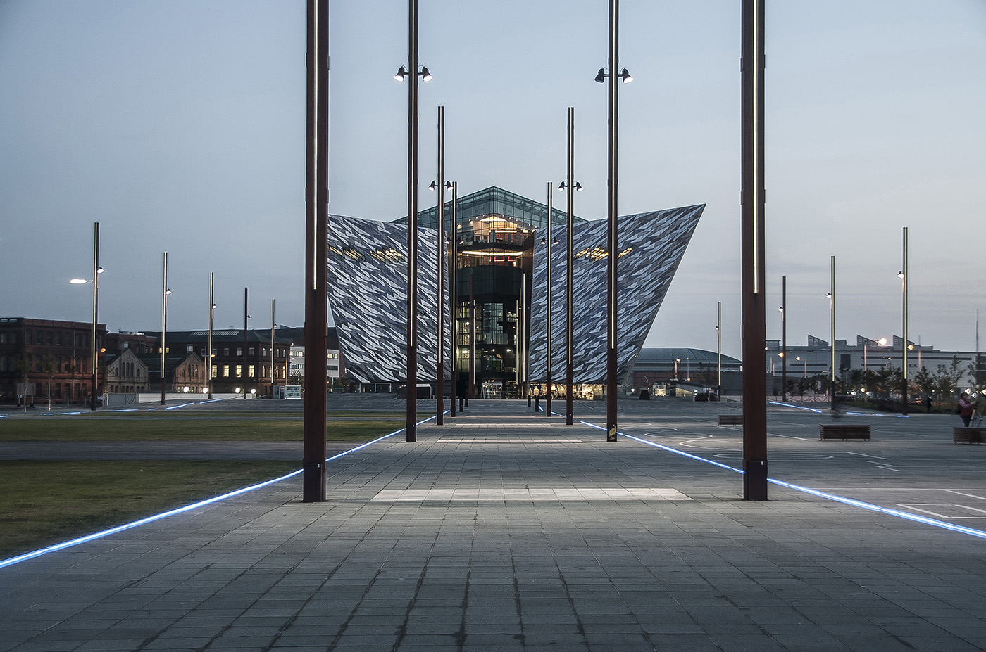 Titanic Building at Dusk, Belfast