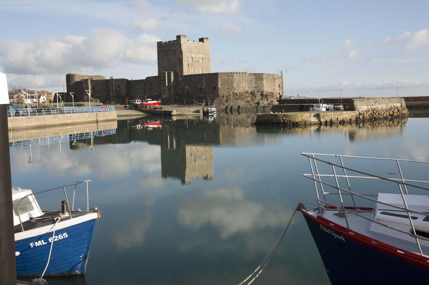 Carrickfergus Harbour -reflexions