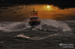 lifeboat in storm