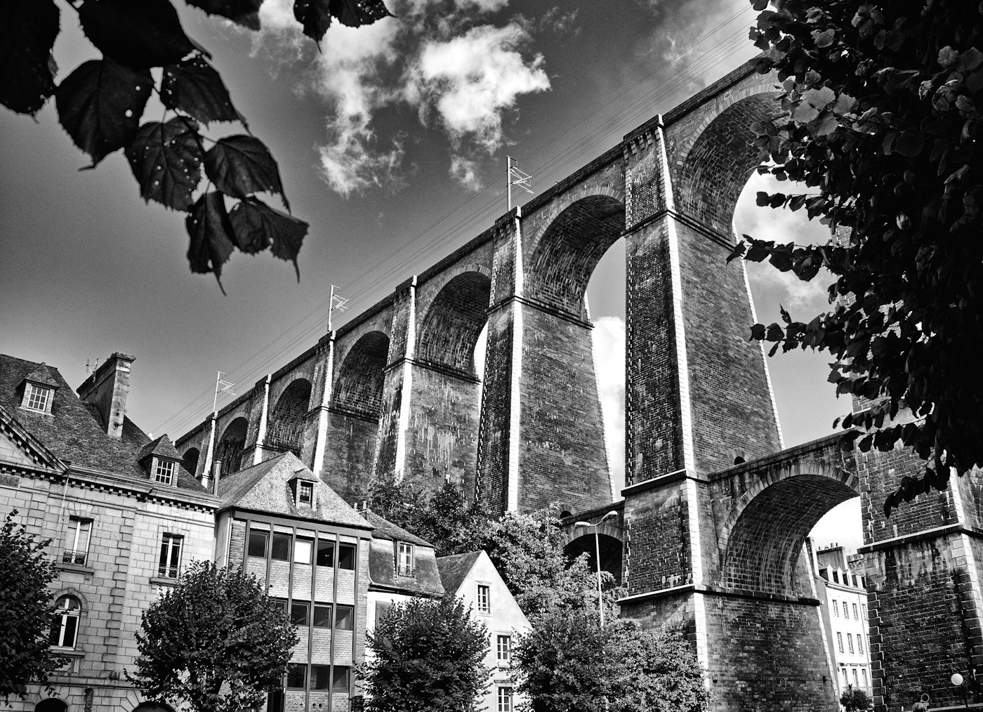 France-Bretagne-Viaduc du  Morlaix-BW