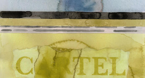 IN A WORD, DRAWING THE LINE 2021 watercolor