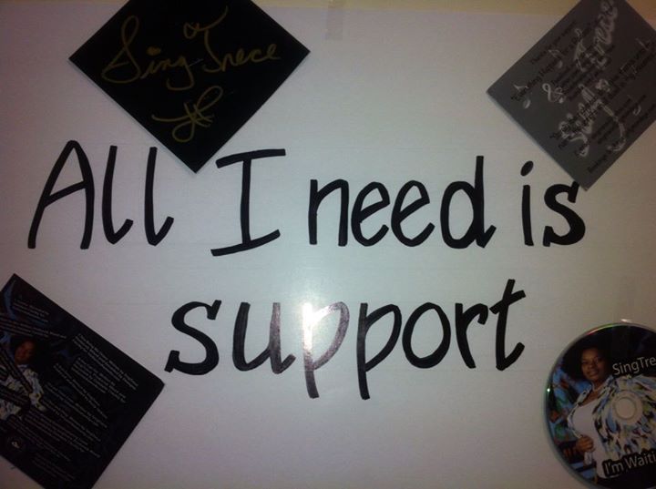 I NEED SUPPORT POSTER