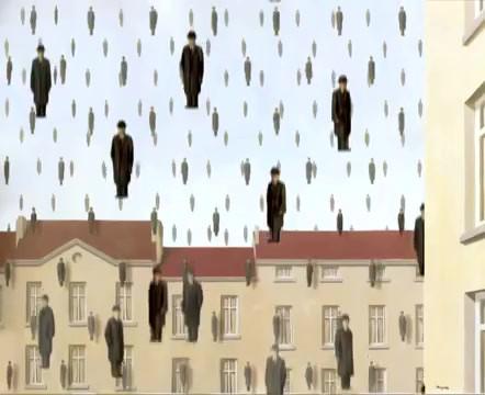 It's raining Men featuring Golconda van René Magritte