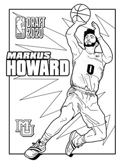 Markus Howard Coloring Sheet