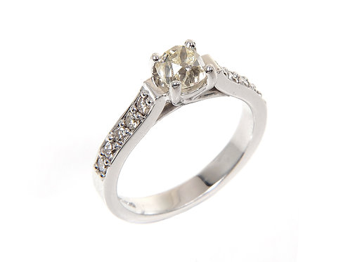 18ct White Gold Diamond Solitaire Ring 0.50ct
