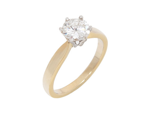 18ct Yellow Gold Diamond Solitaire Ring 0.94ct