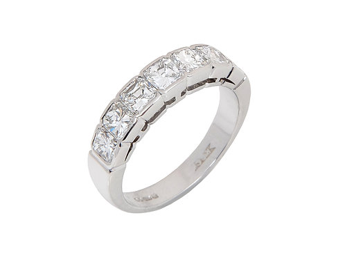 18ct White Gold Half Eternity Ring 2.00ct VS1 Colour G