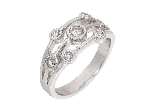 18ct White Gold Diamond Ring 0.44ct