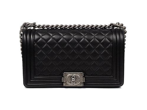 Chanel Boy Bag Medium in Black Full Set