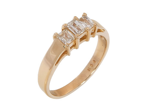 18ct Yellow Gold Millennium Cut Diamond Ring 0.50ct