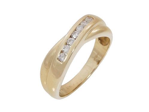 18ct Yellow Gold Diamond Ring 0.25ct