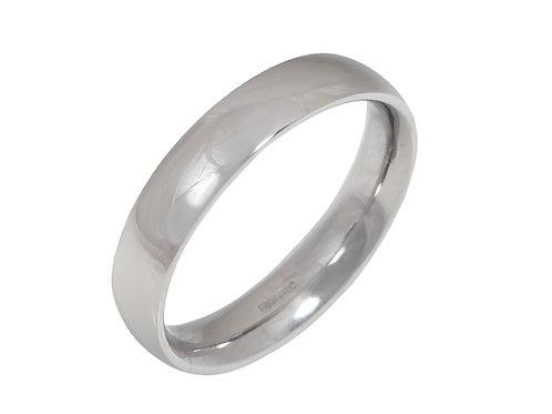 Ladies Platinum Wedding Ring 6.4gms Uk Size L.1/2